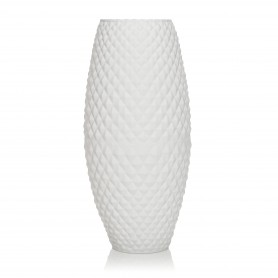 VASO DIAMOND H 37 BASIC SETA BIANCO