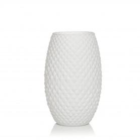 VASO DIAMOND H 30 BASIC SETA BIANCO