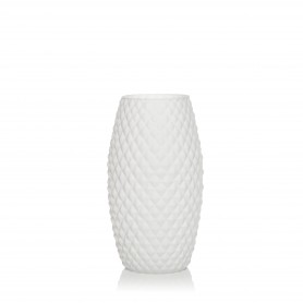 VASO DIAMOND H 26 BASIC SETA BIANCO