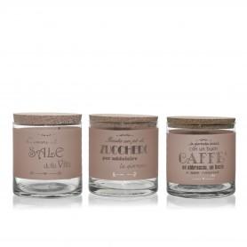 TRIS ZUCCHERO/SALE/CAFFE PAPAYA
